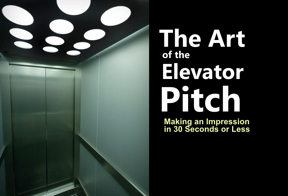 Tradeshow bound?  Nail your 30 second Elevator Pitch